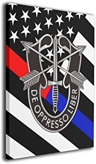 Pksistcol Army Special Forces Logo Canvas Painting Frame 16x20 Wall Modern Art Decor