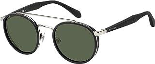 FOSSIL Unisex Sunglasses, Oval, 2082/S - Black