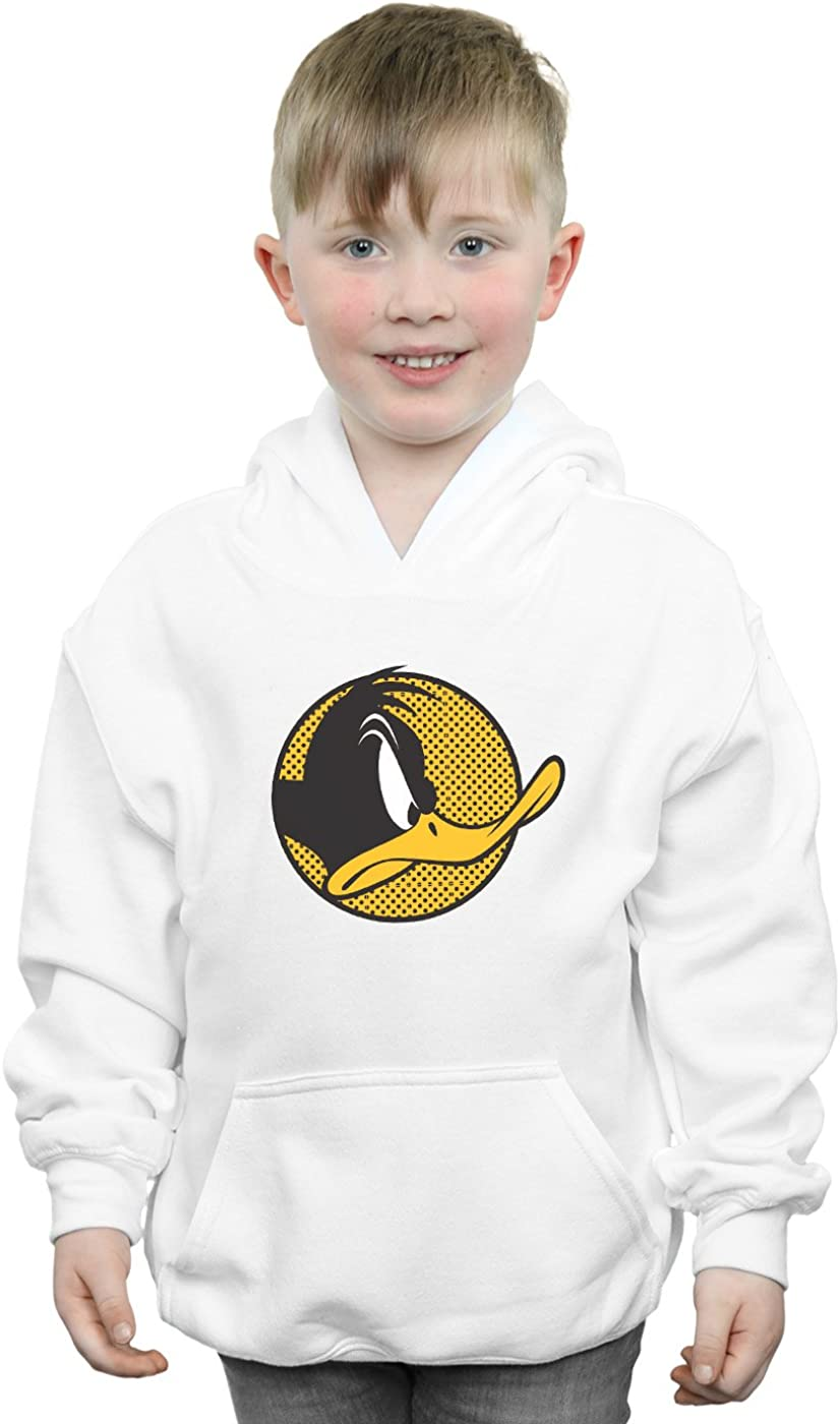 Looney Tunes Boys Daffy Duck Dotted Profile Hoodie