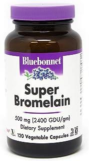 BlueBonnet Super Bromelain Vegetarian Capsules, 500 mg, 120 Count, White (743715008953)