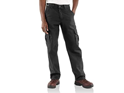 Carhartt Flame-Resistant Canvas Cargo Pants (Black) Men