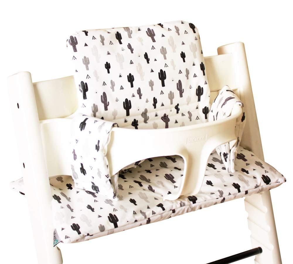 Bambini Mundo Seat Cushion Set for Stokke Tripp Trapp High Chair 14 Colours Jasper 2 Pieces Seat Cushion Cover Medium Brown