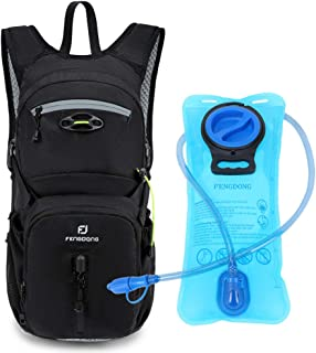 Sponsored Ad - FENGDONG Sports Hydration Packs Backpack with 2L TPU Water Bladder for Hiking,Biking,Running,Cycling,Climbi...