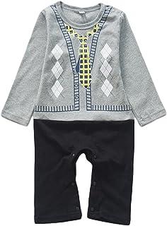 (ウォ2U)Woo2u 春秋 赤ちゃん 男の子 ベビー フォーマル ロンパーススーツ風 カバーオール 子供服 ジャンプスーツ ボディスーツ 出産祝い 写真撮影 カバーオール