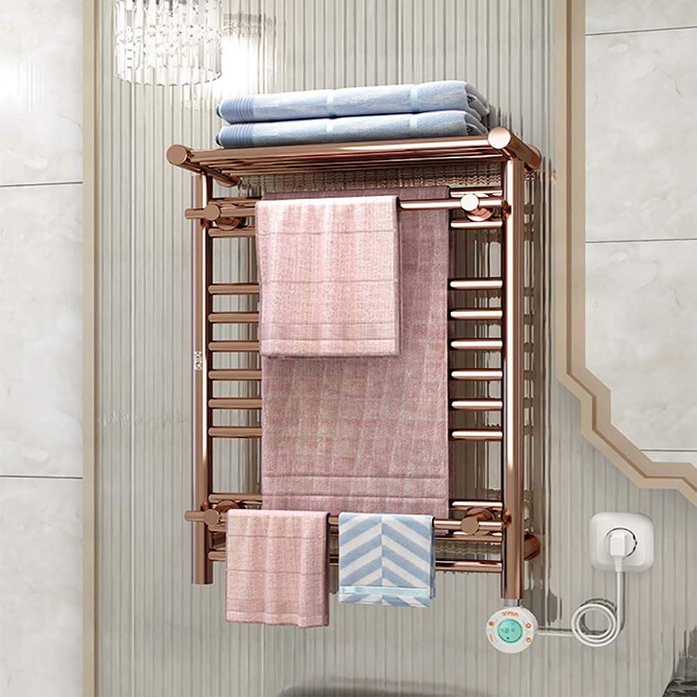 アーサー胚芽潜在的な浴室タオルウォーマー、浴室電気タオルウォーマー用壁掛けステンレス鋼タオルヒーター(26.77 * 19.29インチ/ 250W)加熱タオル