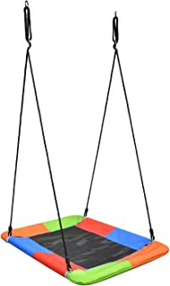 Swinging Monkey Giant Mat Platform Swing in Vibrant Rainbow Tree Swing 40