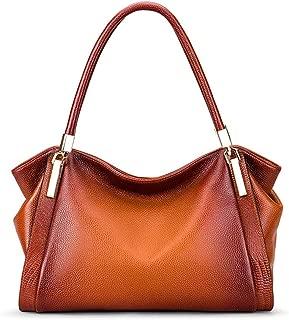 2019 New Handbag Women's Fashion Leather Bag Simple Large Capacity Tote Bag Shoulder Crossbody Bag(FM)