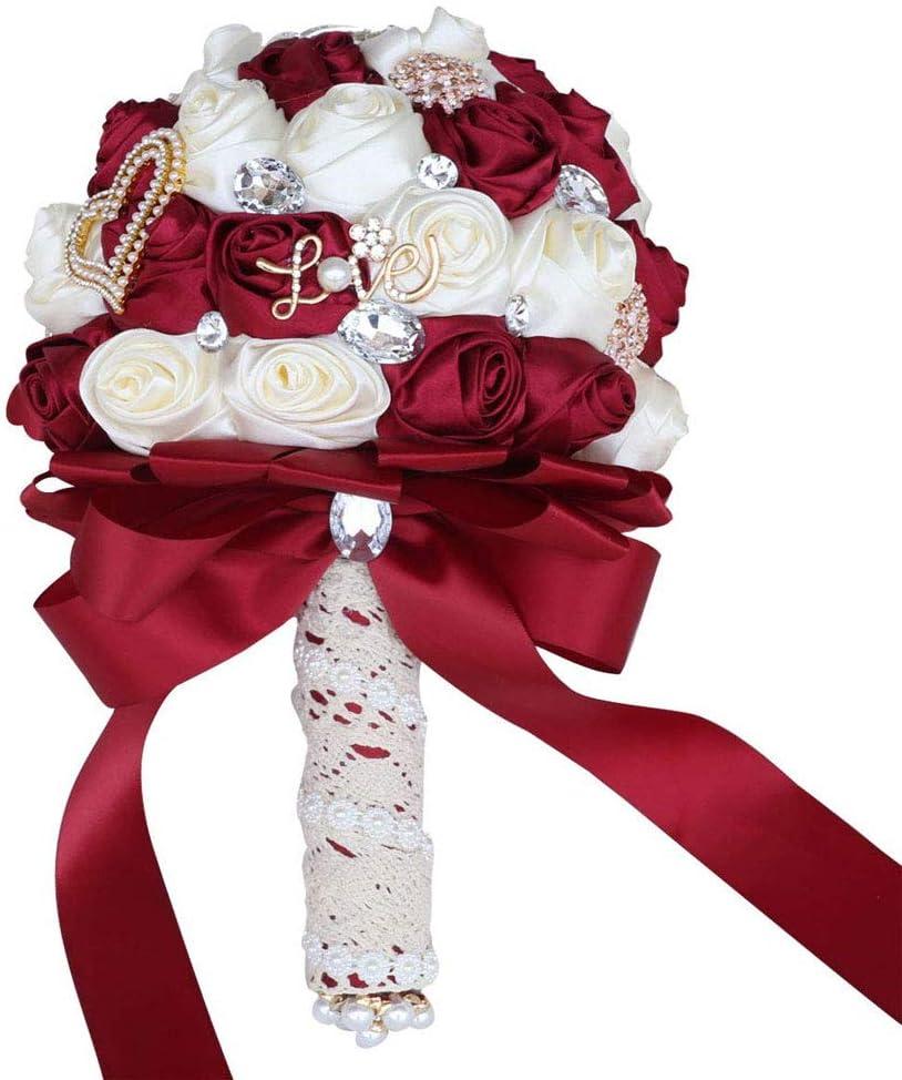 Fiwisora Limited price Satin Wedding Special price Bouquet 8