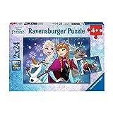 Ravensburger - 09074 - Puzzle Aurores boréales/Reine des Neiges - 2 x 24 pièces