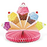Fun Express - I Scream For Ice Cream Centerpiece for Birthday - Party Decor - General Decor - Centerpieces - Birthday - 1 Piece