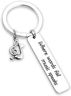 Music Gift Where Words Fail Music Speaks Music Charm Bangle Bracelet Guitar Pick Music Lovers Jewelry Music Teacher Gift