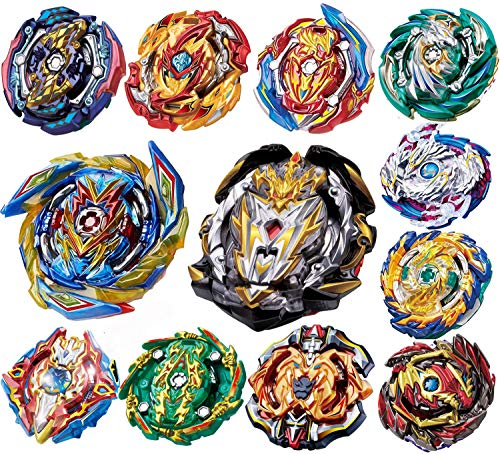 YINGXIANG 12 Pieces Bey Battle Top Gyro Burst Turbo Gt God Evolution Metal Fusion Fury Top Battle Burst High Performance Set, Birthday Party School Gift Idea Toys for Boys Kids Children Age 8+