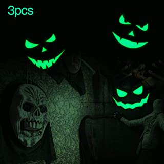 Marsway Halloween Decor Removable Glow In The Dark Stickers Glow Wall Night Luminous Decals Fluorescent Wall Decorations (Devil Smile)