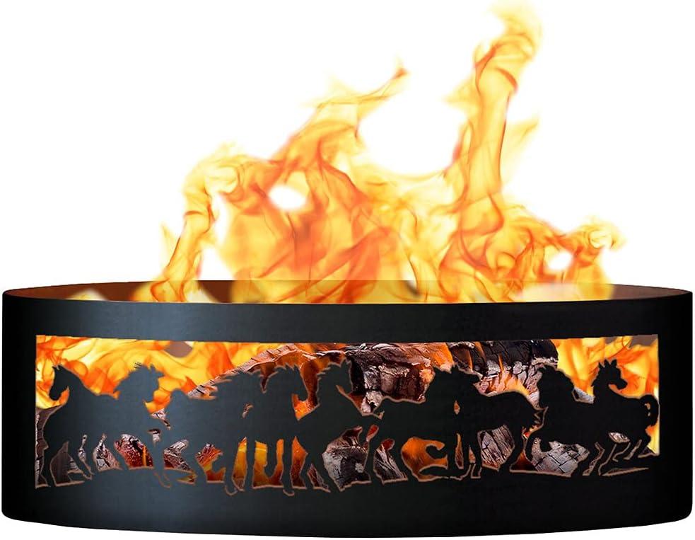 PD Metals Popular overseas Mustangs Fire 55% OFF Medium Ring Size: