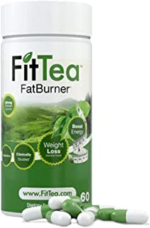 Fit Tea Fat burner weight Loss Powerful Fat Burner and Appetite Suppressant Diet Pill System For Fast Weight Loss Increase Energy With Probiotics egcg Green Tea, 60 Capsules