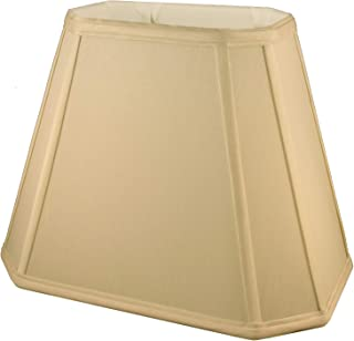 American Pride Soft Shantung Rectangle Tailored Lampshade, (4.75 x 6.5) x (8 x 12) x 9.5-Inch, Honey