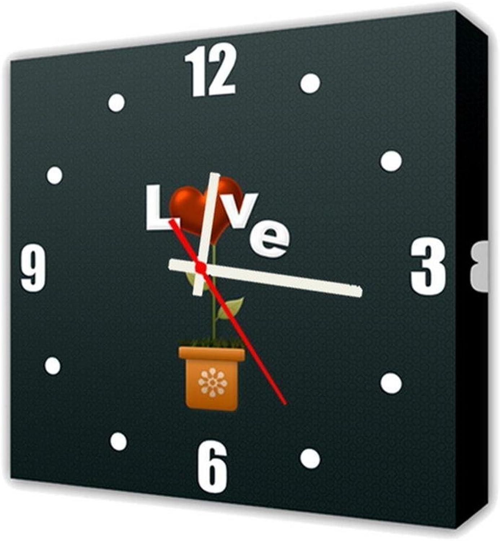 Compra calidad 100% autentica Reloj de de de Lienzo Arte de la Parojo de Lienzo Pintura Moderna Contemporánea de la Lona Sala de Estar Dibujos Animados Reloj de Parojo en Lienzo 1 Panel Arts Craft Lienzo de Parojo para Uso en Interiores ,  100% precio garantizado