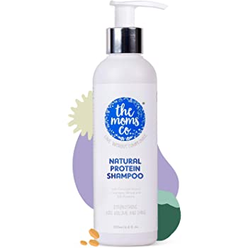 The Moms Co. Natural Protein Shampoo (200ml) to Strengthen Hair, Add Volume, Shine and Reduce Hair Fall - 6.8 Oz