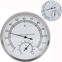 Salle de sauna thermomètre, hammam 2 en 1 en acier inoxydable Salle de sauna Accessoires de salle de sauna Thermomètre Hyg...