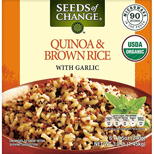 Seeds of Change Organic Quinoa and Brown Rice with Garlic 85 oz 6 ct