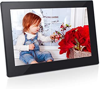 Digital Photo Frame 8 Inch 16:9 IPS Display Electronic Picture Frame 1080P High Resolution Advertising Machine with Video Player, Calendar, Alarm, Auto Power ON/Off, Remote Control [Jimwey]