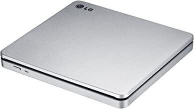 LG Electronics 8X USB 2.0 Super Multi Ultra Slim Slot Portable DVD+/-RW External Drive with M-DISC Support, Retail (Silver ) GP70NS50 (Renewed)