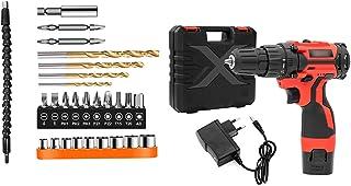 Batteriborr, 18V kombinationsrör, 31-stycke elektrisk skruvmejseluppsättning, uppladdningsbar för laddningsbara maskiner f...