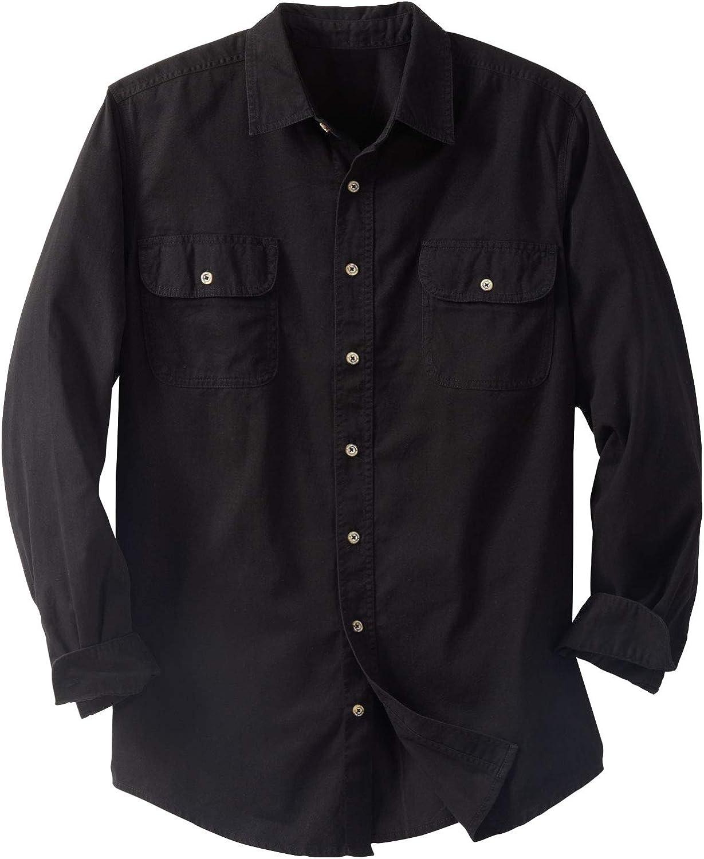 Boulder Creek by Kingsize Men's Big & Tall Long Sleeve Denim and Twill Shirt