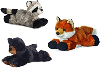 "Aurora Rascal Raccoon Foxie Fox Sullivan Black Bear Mini Flopsie 8"" Bundle"