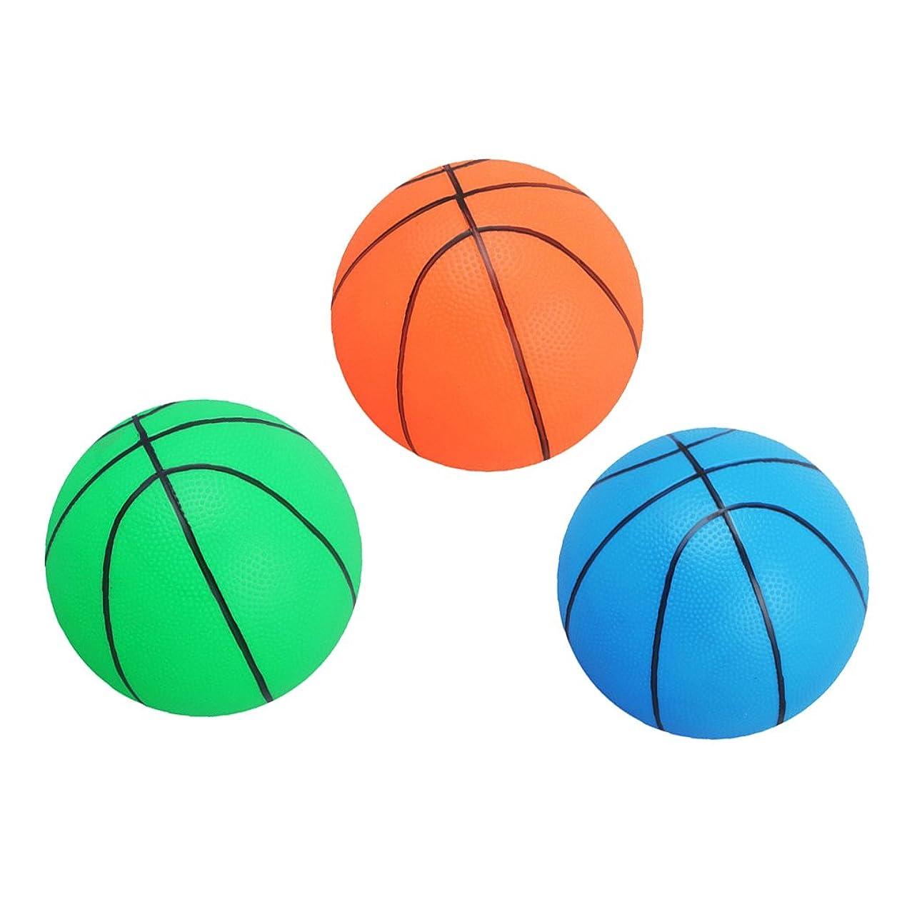 種をまく日付ローズゴム製 バスケットボール スポーツ ミニ 弾む  屋内 屋外 直径約16cm 3個セット