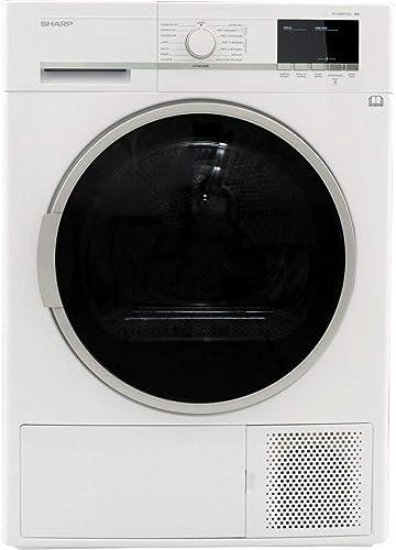 Sèche linge Condensation Sharp KDGHB8S7GW2 - Condensation - Chargement Frontal - Pompe à chaleur - Départ différé - I...