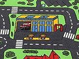 Spielteppich Autoteppich Straßenteppich City - 95x200 cm, Anti-Schmutz-Schicht, Auto-Spielteppich für Mädchen & Jungen, Kinderteppich Strasse Fußbodenheizung geeignet - 9