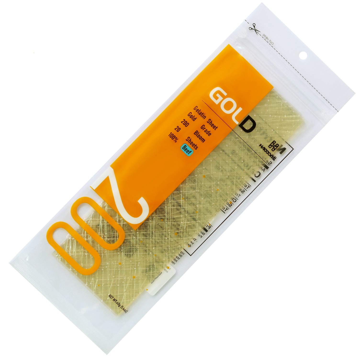 Haodong Beef excellence Gold Leaf Gelatin Sheets 40g 200 20Sheets Tucson Mall - Bloom