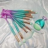Scorpio 11 conjuntos de pinceles de maquillaje Colorido Cola de sirena Ojo de Maquillaje Pincel Conjunto de Cola de Pez Herramienta de Maquill