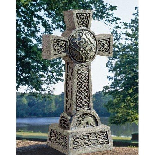 Celtic Cross Statue Garden Decor Home Garden Decor Yard Art
