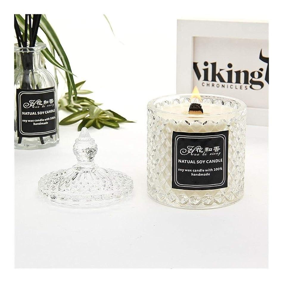 真実に革命的移動する国王 クリスタルガラスボトルの香りキャンドル (色 : Lavender)