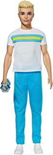 Barbie Ken 60th Anniversary Doll 2 in Throwback Workout Look with T-Shirt, Athleisure Pants, Sneakers & Hand Weight Kids 3...
