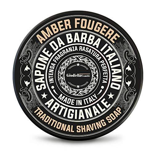 The Goodfellas 'smile Sapone da barba Amber Fougere - Savon de rasage artisanale -100ml