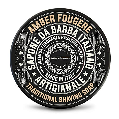 The Goodfellas 'smile Sapone da barba Amber Fougere - Savon de rasage artisanale - 100ml