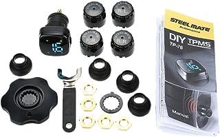 mewmewcat Profesional TPMS TP-76 Sistema de monitoramento da pressão dos pneus Sensores externos de acendedor de cigarros ...