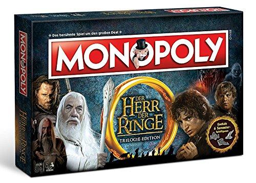 Herr der Ringe Monopoly Deutsch - 6 Sammler Spielfiguren | Gesellschaftsspiel | Brettspiel