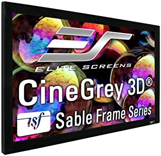Elite Screens Sable Frame CineGrey 3D, 120-inch Diagonal 16:9, 8K 4K Ultra HD Ready Ceiling and Ambient Light Rejecting Fi...