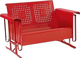 Crosley Furniture Bates Loveseat Glider - Red