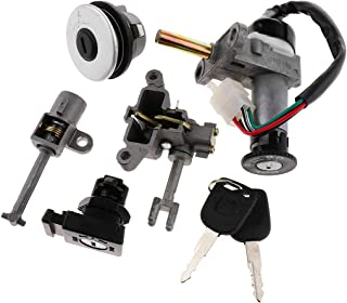 Motorcycle Scooter Fuel Tank Cap Lock Switch Lock Key Kit for Yamaha ZY125T