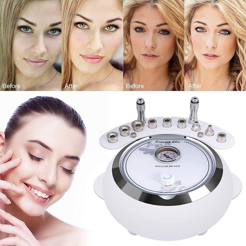 寝てる腐食する不調和1つのダイヤモンドのマイクロダーマブレーション機械に付き3つ、顔のスキンケアの大広間装置w/掃除機をかけて強い吸引力のダイヤモンドの頭部の美装置