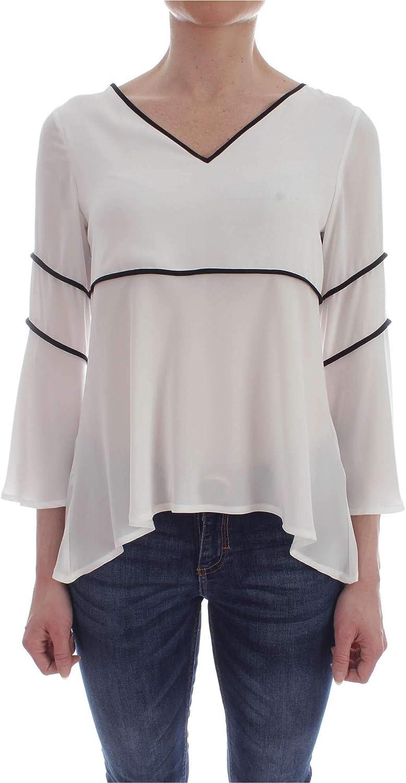 Carla Montanarini Women's 2535G6WHITE White Polyester Blouse