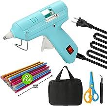 Mini Hot Glue Gun Kit - Including 20W Hot Melt Glue Gun/ 20 Pcs Color Glue Sticks/Scissors/Tweezers/Carry Bag - DIY Small ...