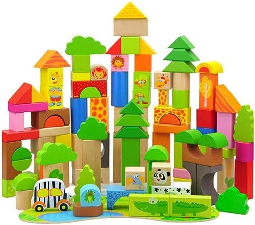 Sunasd Geb e Spiel Bausteine  pielzeug Wald Abenteuer Spielzeug Bausteine  olz Kinder Montiert Spielzeug Aufkl ng Bl e Buchstabieren Einsatz 113