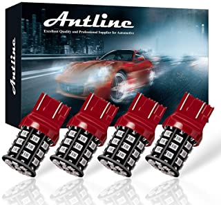 Antline 7443 7440 T20 992 7441 7444 W21W LED Bulbs Brilliant Red, 12-24V Super Bright 800 Lumens Replacement for Tail Brak...