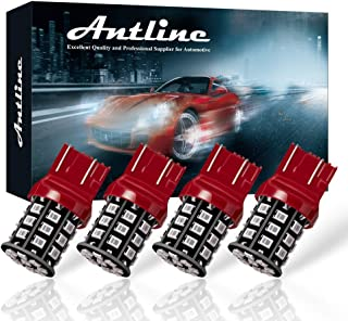 Antline 7443 7440 T20 992 7441 7444 W21W LED Bulbs Brilliant Red, 12-24V Super Bright 800 Lumens Replacement for Tail Brake Lights, Turn Signal Lights, Parking Light (Pack of 4)